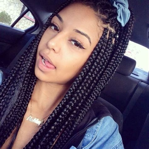Block Braids Hairstyles by 65 Box Braids Hairstyles For Black With Block Braids