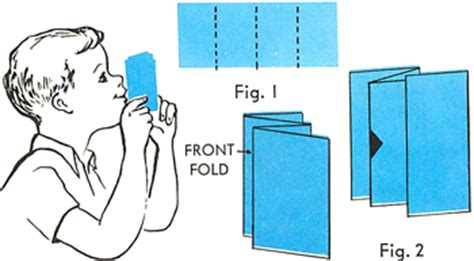 How To Make A Whistle Out Of Paper - paper folding models paper folding diagrams paper