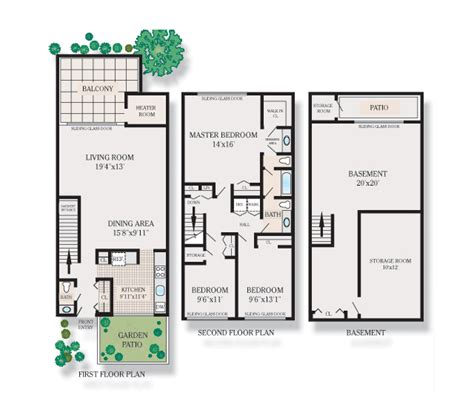 house plans one level one level townhome floor plans