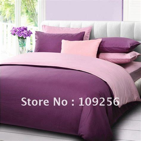 plain purple comforter free ship 100 sateen cotton purple pink color luxury