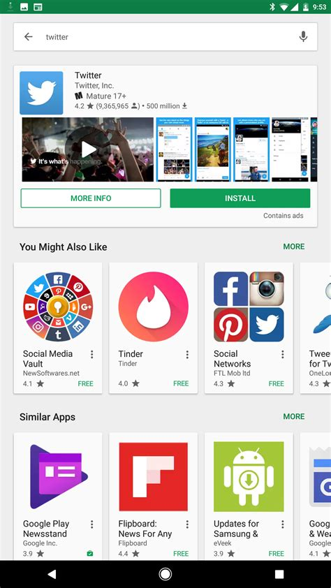 play store new updated play store with a new my apps section appears to