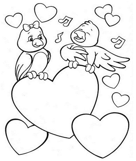 coloring pictures of lovebirds love birds valentines day coloring pinterest