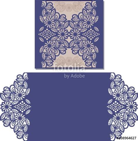 Cut Out Card Templates Free by Vector Paper Cut Out Card Laser Cut Pattern For