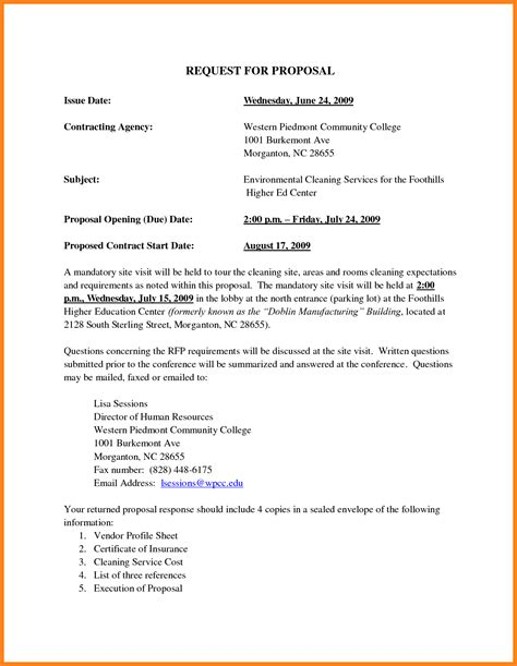 2 Janitorial Business Proposal Sle Project Proposal Rfp For Cleaning Services Template