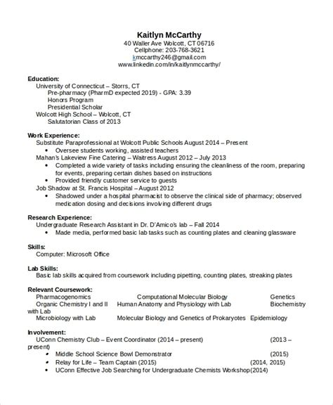 Sle Resume For D Pharmacist sle pharmacist resume 28 images pharmacist resume sle