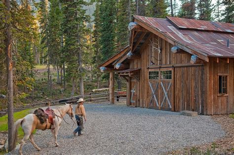 rustic barn designs headwaters c cabin idyllic retreat enchants with