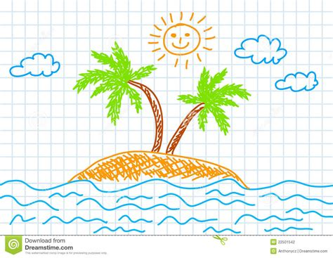 Free Landscape Design App Drawing Of Island Stock Photography Image 22501542