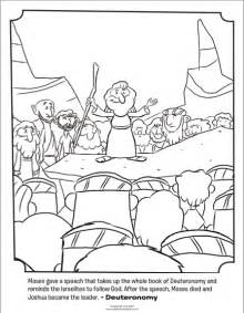 moses giving a speech bible coloring pages what s in