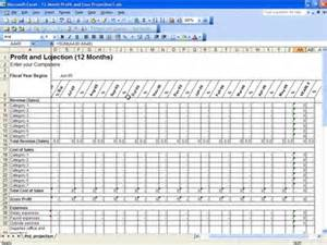 profit and loss projection template free profit and loss projection template for excel
