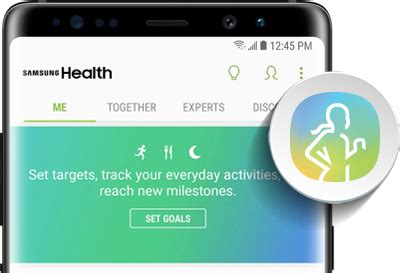 samsung health app on galaxy note8