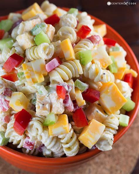 salad with pasta creamy cheddar pasta salad recipe
