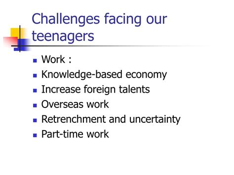 challenges for teenagers ppt parenting teenagers powerpoint presentation id 28100