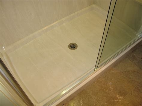 Cast Polymer Countertops by Shower Pans