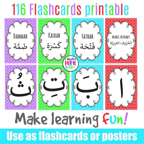 arabic alphabet with pictures flashcards printable arabic alphabet poster flashcards makkah centric education