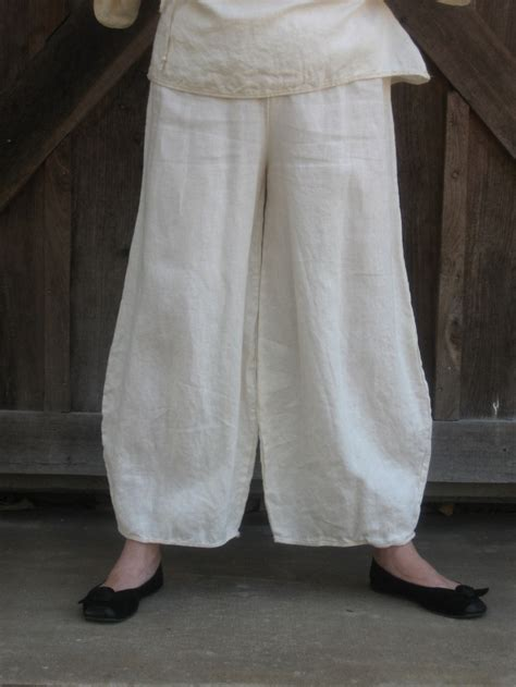 linen yoga pants pattern linen pant in ivory 95 00 via etsy my style