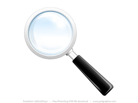 Finder Records Search Icon Psd Magnifying Glass Psdgraphics