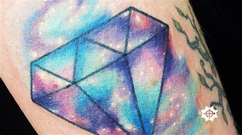 watercolor tattoo diamond galaxy watercolor by kran