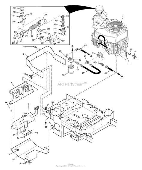 Spare Part Honda New Tiger scag stc52a 24hn tiger cub s n a5300001 a5399999 parts diagram for engine and attaching parts