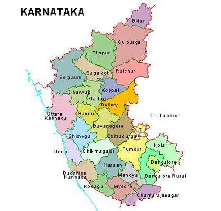 Karnataka District Map Outline by Karnataka District Map Map Of Karnataka
