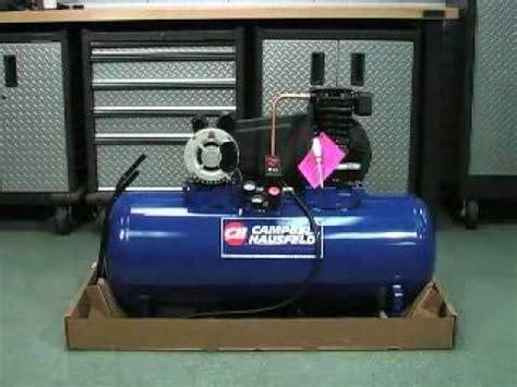 cbell hausfeld air compressor unboxing