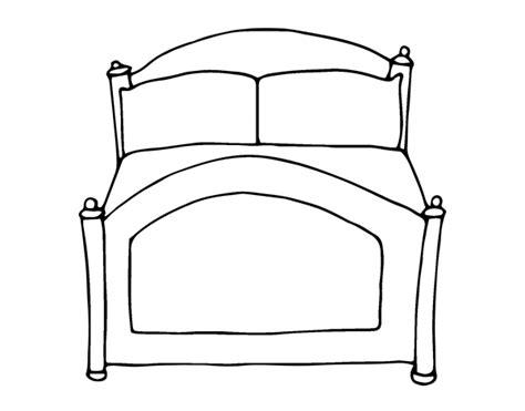 colorare da letto disegno di letto da colorare acolore