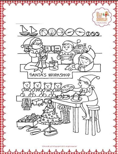 coloring page of elf on the shelf elf on the shelf coloring pages printables pinterest