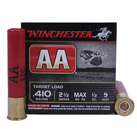 winchester printable targets winchester ammo aa 410ga 2 5 quot 9 shot target 25 mfg aa419