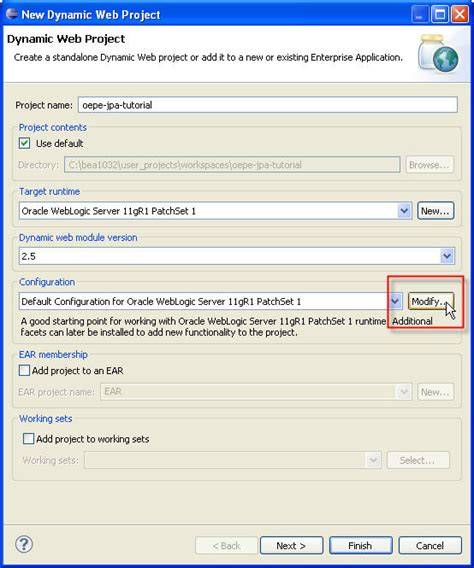 tutorial eclipse oracle oepe spring jpa tutorial step 1 setup database and