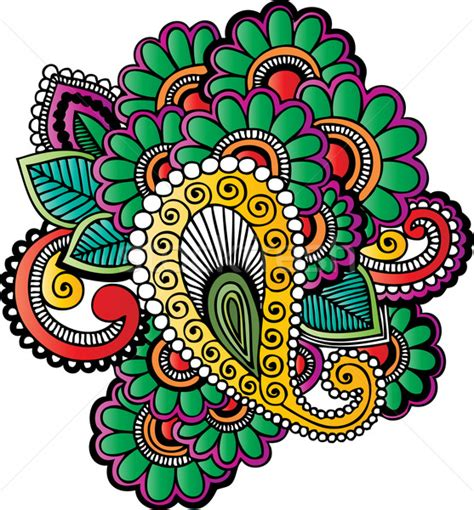 indian motif in color vector illustration 169 gabor weisz