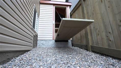 shed drawbridge door youtube