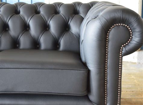 Gray Leather Chesterfield Sofa Chesterfield Sofa Grey Leather Chesterfield Grosvenor 3 Seater Armchair Footstool Sofa Settee