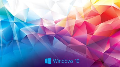 Abstract Colorful windows 10 wallpaper abstract 3d colorful polygon hd