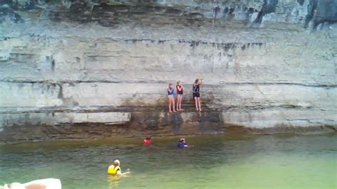 table rock lake rope swing rope and cliff youtube