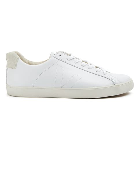 veja shoes veja esplar leather low top sneakers in white for lyst