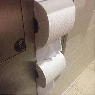 writing on toilet paper shows how he picked the lock on a loo roll holder just