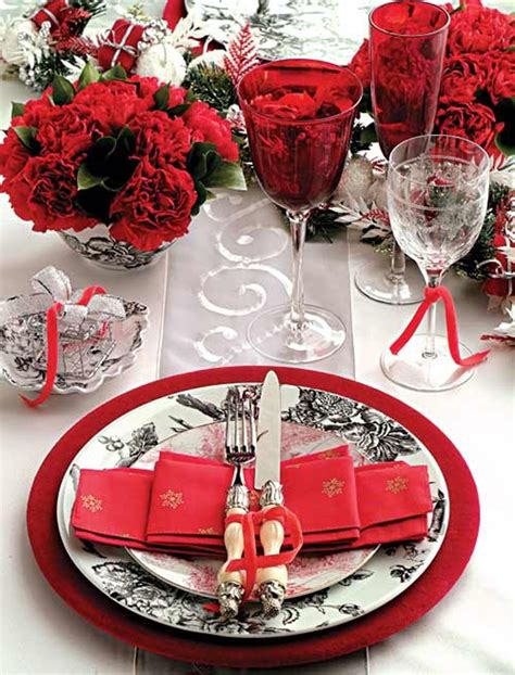 black and red christmas tablescapes 25 s day table setting ideas home design and interior