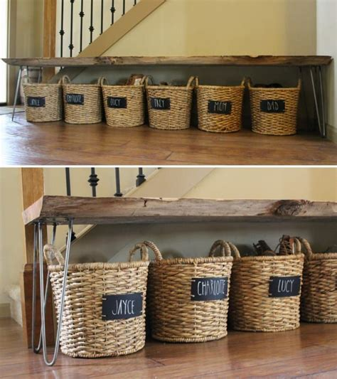 25 best ideas about shoe basket on pinterest front entrance ways hallway bench with storage