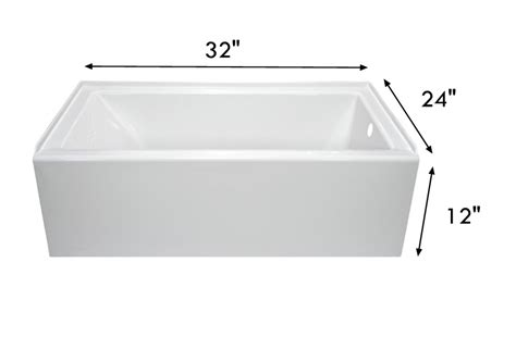 rv bathtubs lyons dt1832r12 32 quot x 24 quot full rv bath tub