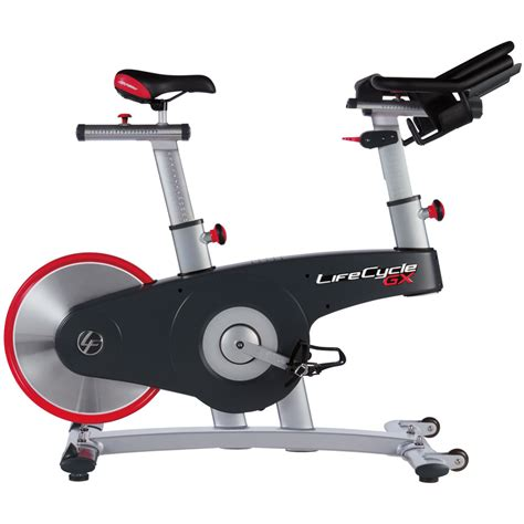 Spinning Bike America White fitness lifecycle gx exercise bike all american fitness