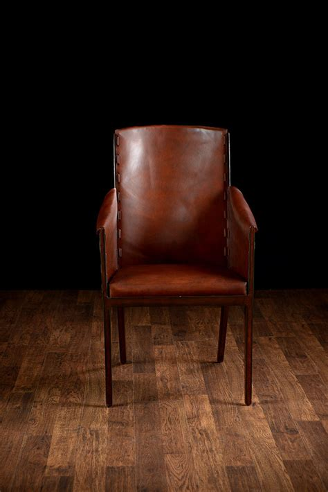 rustic leather armchair rustic leather arm chair mecox gardens