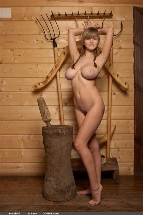 Hotty Stop Svanhild In Pigtails Has Amazing Huge Boobs