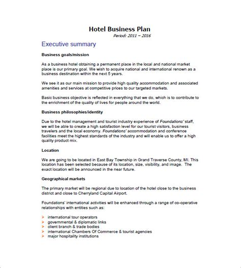high level business plan template high level business plan template image collections