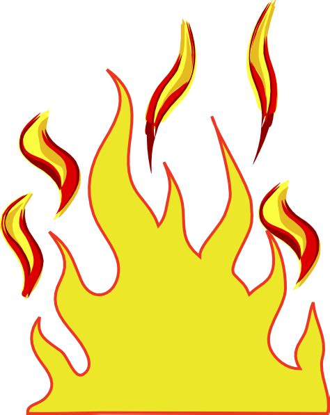 Flames Clipart Free yellow drawing flames clipart cliparts and others inspiration