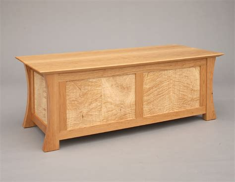 wood chest bench waterfall bench chest hardwood artisans handcrafted
