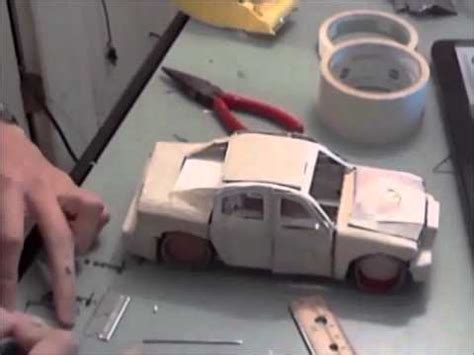 How To Make Paper Car Models - building a model car made of paper time lapse