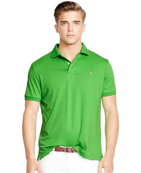 Celana Softjeans Polos lyst polo ralph pima soft touch shirt in green for