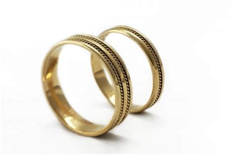 Wedding Bands Handmade by Gold Wedding Ring Sets Braided Bands Wedding Band For