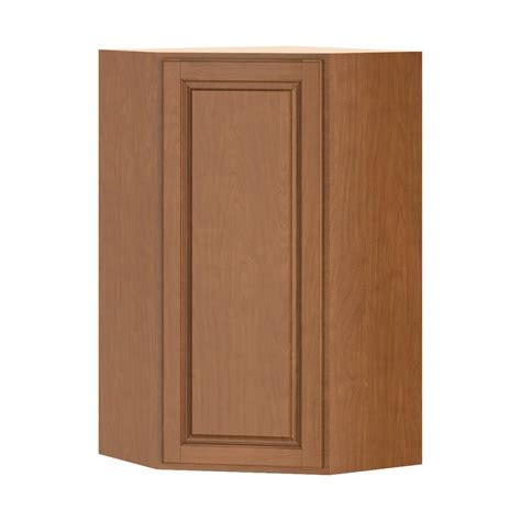 home depot cognac cabinets hton bay madison assembled 24x42x24 in corner wall