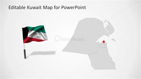 powerpoint templates kuwait middle east county map of kuwait slidemodel