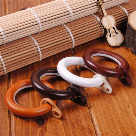 Wood Drapery Rods And Rings solid wood rod rings curtain rod rings and solid